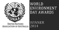 United Nations Association of Australia World Environment Day Awards - Winner 2014